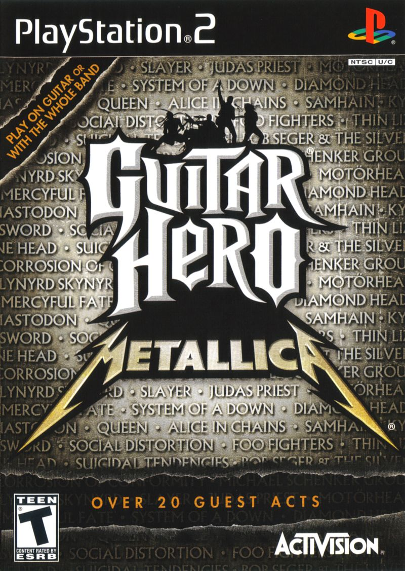 Guitar Hero Metallica 2009 PlayStation 2 Box Cover Art