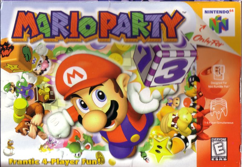 Image result for mario party n64 box art