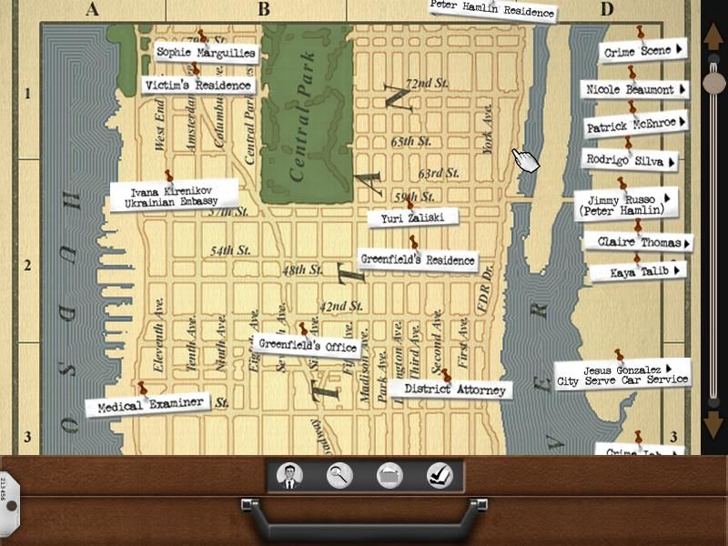 Law & Order: Justice is Served Windows Map with locations