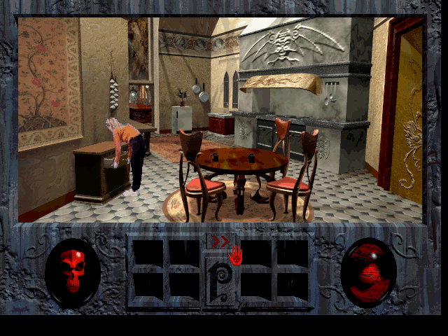 Roberta Williams' Phantasmagoria DOS Exploring in the kitchen