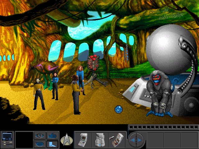Star Trek: The Next Generation - A Final Unity DOS A zoological society governed by females.