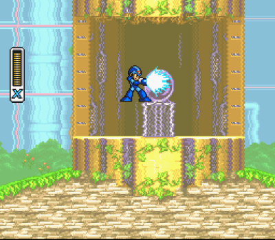 Mega Man X2 SNES Weather Control stage