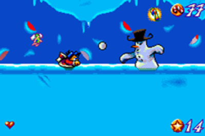 Santa Claus Jr. Advance Game Boy Advance Duck to avoid snowballs