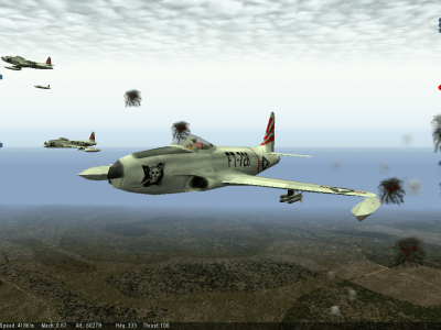 Mig Alley Windows Flying through flak in the F-80