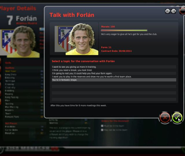 Fifa Manager 08 Windows You Can Meet The Players And Talk With Them Several Times On