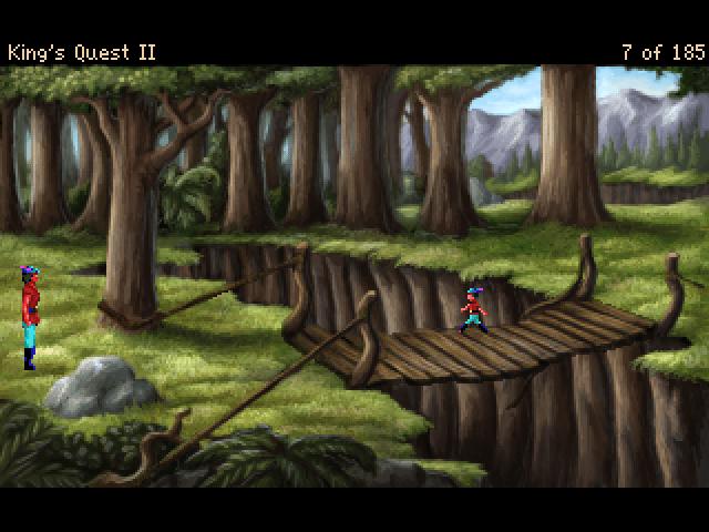 King's Quest II: Romancing the Stones Windows Version 3.0: Bridge