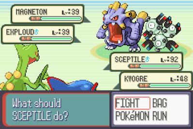 Pokémon Sapphire Version Game Boy Advance Duel Pokemon match
