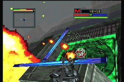 Blade Force 3DO Striking from above.