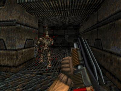 Chasm: The Rift DOS ...while this Alien Warrior got dis<b>arm</b>ed
