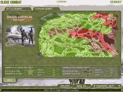 Close Combat: The Battle of the Bulge Windows Campaign Debriefing
