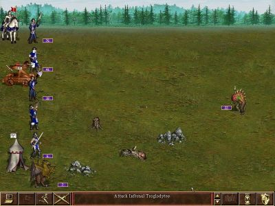 Heroes of Might and Magic III: The Restoration of Erathia Windows on the battlefield
