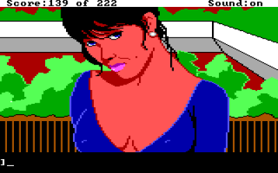 Leisure Suit Larry in the Land of the Lounge Lizards DOS Close-up on Faith. Pretty impressive visuals!..