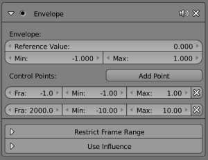 An closer look at the options in the envelope graph modifier