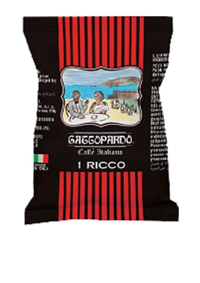 100 capsule Caffè Gattopardo miscela Ricco compatibili Uno System