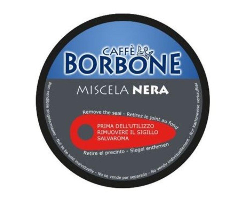 90 capsule caffè Borbone Compatibili Nescafé Dolce Gusto Miscela NERA + omaggio kit accessori borbone