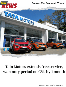 Tata Motors extends free service, warranty period on CVs by 1 month