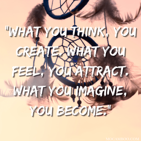 """""""What you think, you create. What you feel, you attract. What you imagine, you become."""""""