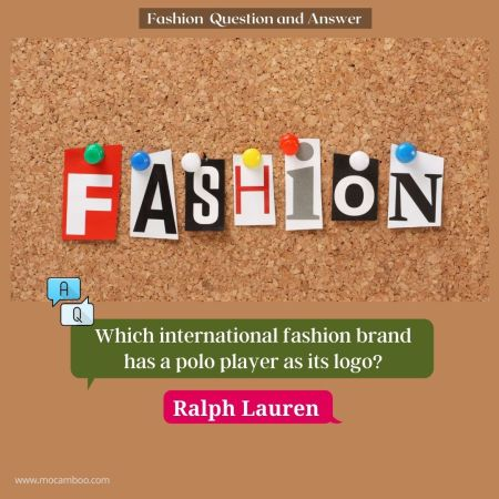 Which international fashion brand has a polo player as its logo?