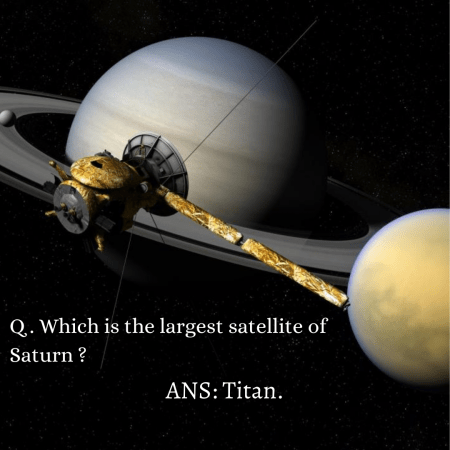 Q . Which is the largest satellite of Saturn ?