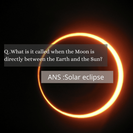 .What is it called when the Moon is directly between the Earth and the Sun?
