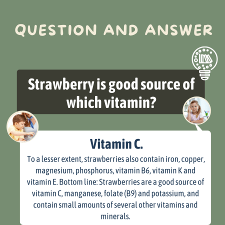 Strawberry is good source of which vitamin?
