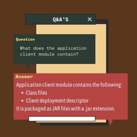 What does the application client module contain?