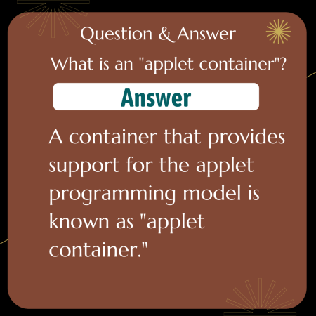 """What is an """"applet container""""?"""