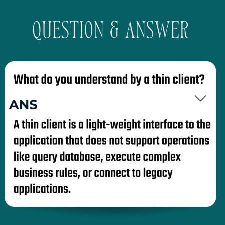 What do you understand by a thin client?