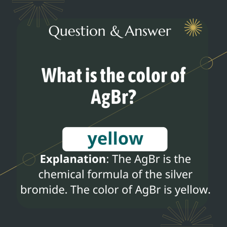 What is the color of AgBr?