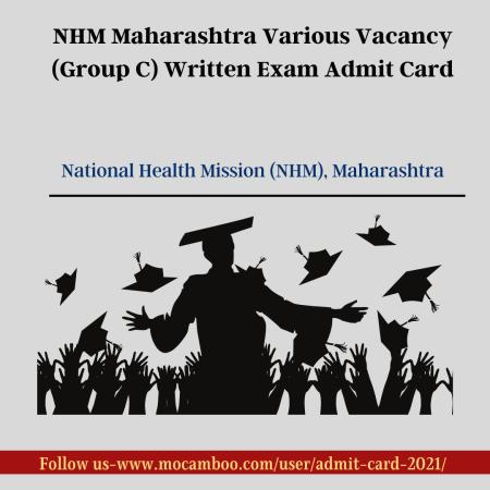 NHM Maharashtra Various Vacancy (Group C) Written Exam Admit Card
