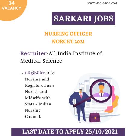 Nursing Officer NORCET 2021