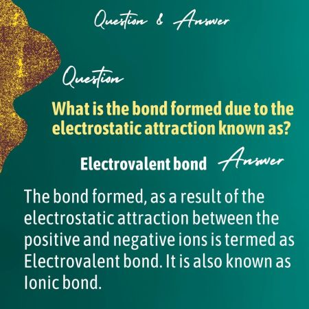 What is the bond formed due to the electrostatic attraction known as?