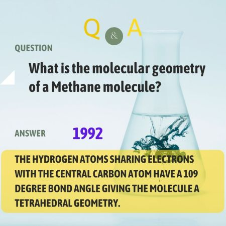 What is the molecular geometry of a Methane molecule?