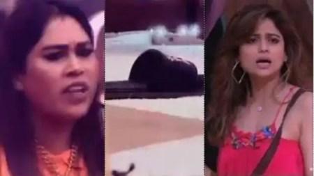 Bigg Boss 15: afsana khan throw slippers on Shamita Shetty and kicked Akasa singh karan kundra g ...