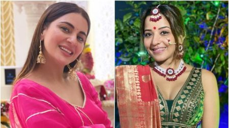 From shraddha arya to monalisa tv celebs appeared in special looks on durga puja and navratri an