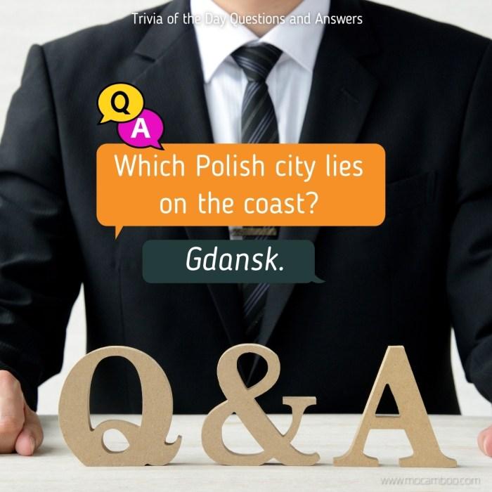 Which Polish city lies on the coast?