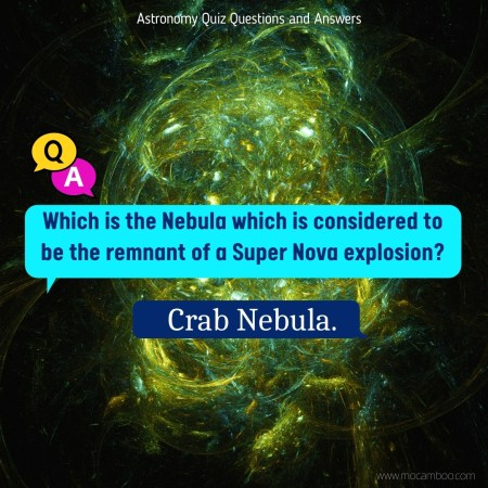 Which is the Nebula which is considered to be the remnant of a Super Nova explosion?