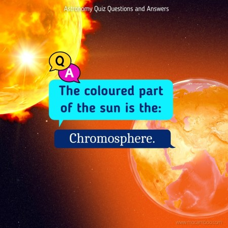 The coloured part of the sun is the: