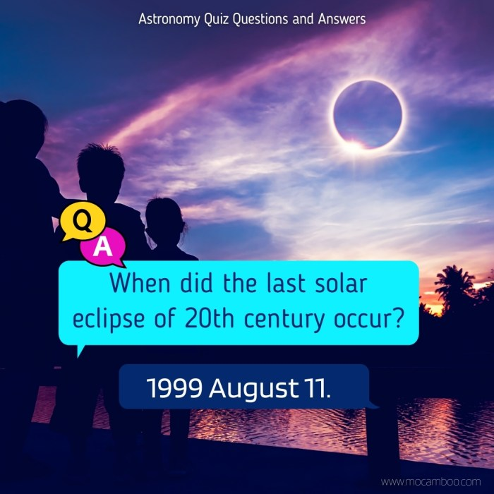 When did the last solar eclipse of 20th century occur?