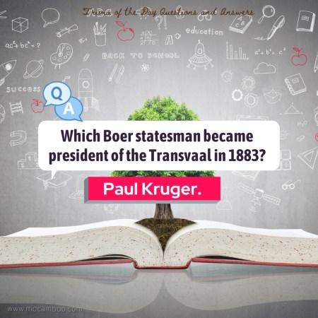 Which Boer statesman became president of the Transvaal in 1883?