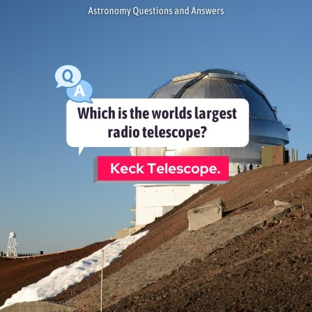 Which is the worlds largest radio telescope?