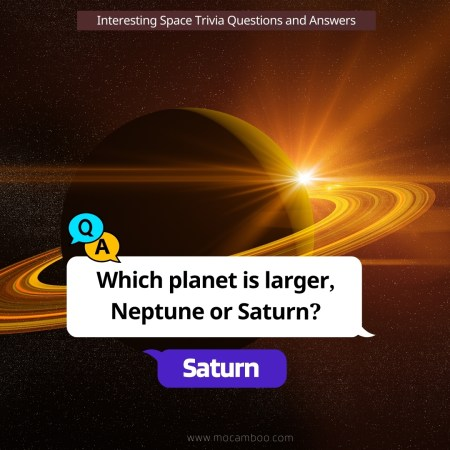 Which planet is larger, Neptune or Saturn?