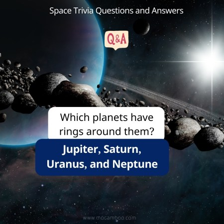 Which planets have rings around them?