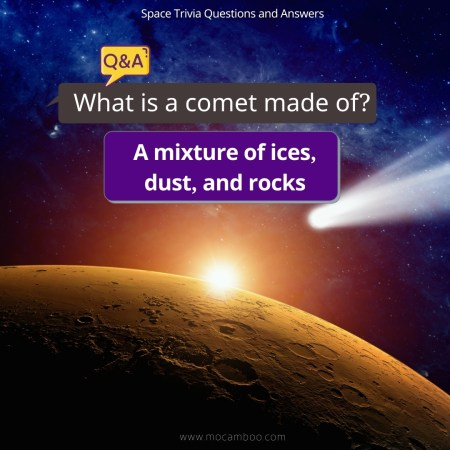 What is a comet made of?