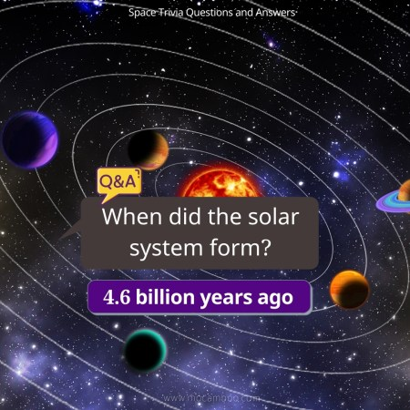 When did the solar system form?