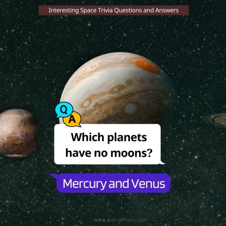 Which planets have no moons?