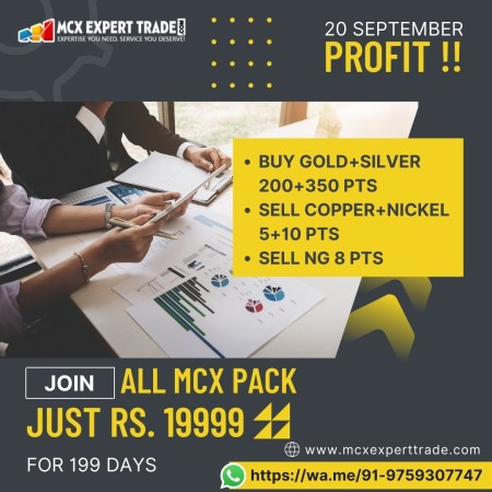 20 September Profit !! BUY GOLD+SILVER 200+350 Pts SELL COPPER+NICKEL 5+10 Pts SELL NG 8 Pts Joi ...