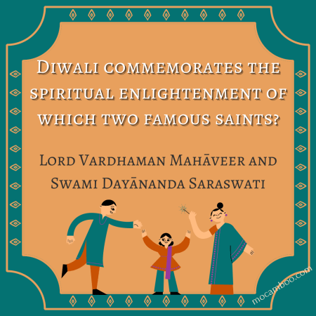 Diwali commemorates the spiritual enlightenment of which two famous saints?