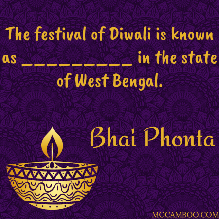 The festival of Diwali is known as _________ in the state of West Bengal.