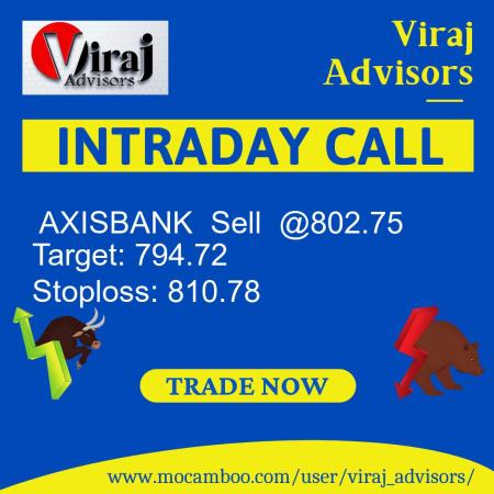 Live  AXISBANK  Sell  @802.75    Trading Call